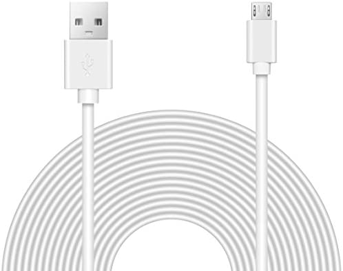 20Ft Usb Power Cable Extension Cord Connector Nest Yi Wyze White Smart Camera