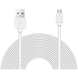 25ft Power Extension Cable Compatible with Wyze Cam v3, Blink, Echo, Xbox, PS4, Yi, Oculus Go, and Smart Home.