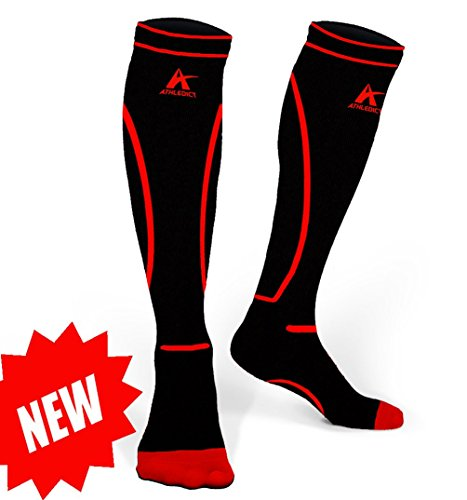 - Athledict Compression Socks 20-30 mmHg Best for Shin Splints Pain Relief and Faster Recovery