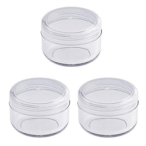 Leere klare Acryl Dose 6 ml, Kosmetex Kosmetikdose, Plastikdose, Nailart, Cremedose mit Schraubdeckel, 20 Stück 20 Stück
