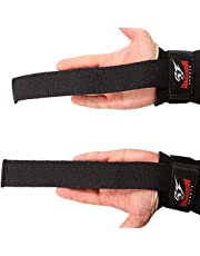 Armageddon Sports Polsbandjes voor gewichtheffen met premium gewatteerde polswraps ondersteuning, perfect voor deadlifting, pull-up, bar training, gym, gewichtheffen - verbetert de grip voor mannen en vrouwen