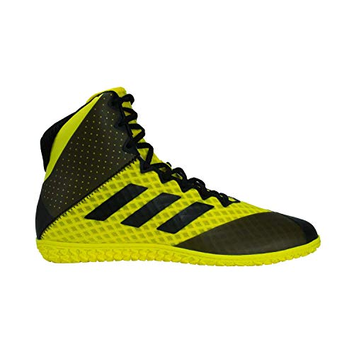 adidas Mat Wizard 4 Men's Wrestling Shoes, Yellow/Black, Size 4