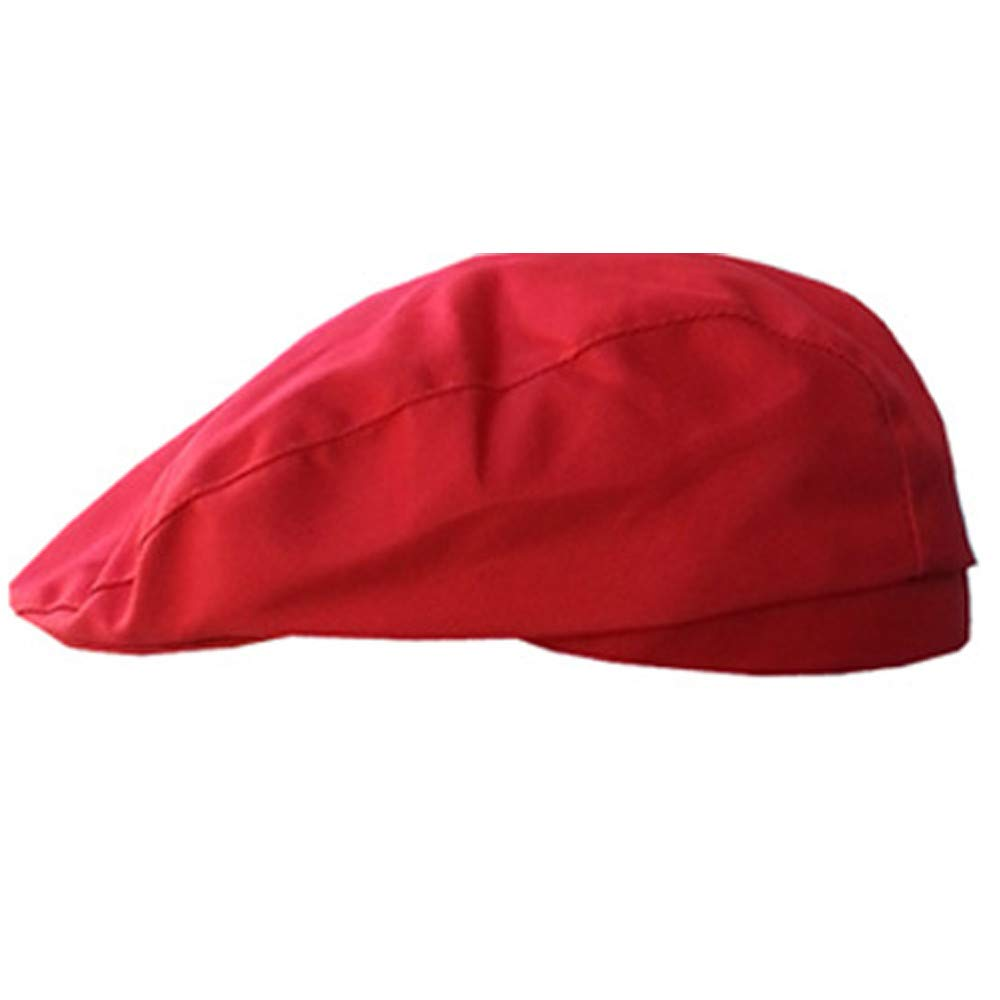Men Women Fashion Beret French Style Beanie Hats Newsboy Gatsby Hat Vintage Beret Flat Ivy Cabbie Driving Duckbill Golf Caps (Red)