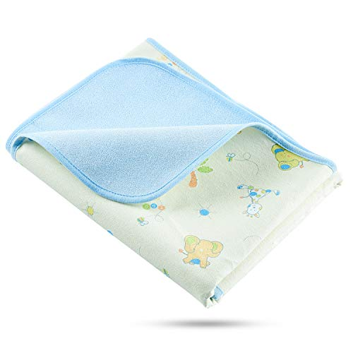 - Elf Star Cotton Bamboo Fiber Breathable Waterproof Underpads Mattress Pad Sheet Protector, Elephant and Giraffe Print, 1 Pad 27