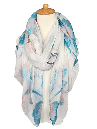 GERINLY Lightweight Shawl Wrap Flowers