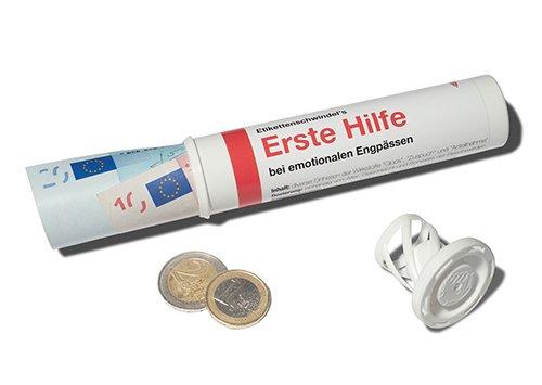 LUSTIG von modern times I LOVE GIFTS ERSTE HILFE + + /& Geschenkr/öhrchen im Medikamenten-Stil + Geld