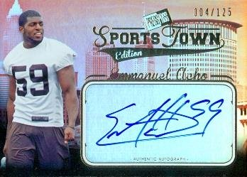 Autograph Warehouse 99945 Emmanuel Acho Autographed Football Card Texas 2012 Press Pass Sports Town Rookie No. St-Ea ()