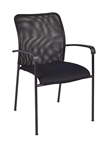 Regency Mario Stack Chair, Black by Regency