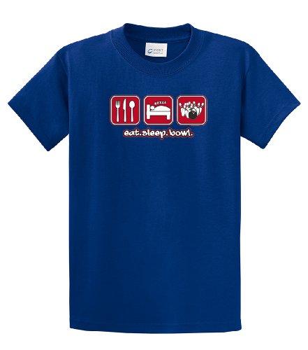 - Bowling T-Shirt Eat Sleep Bowl-royal-medium