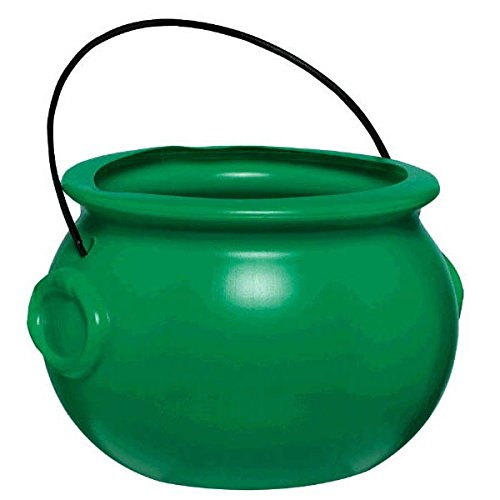 Amscan Lucky Saint Patrick's Day Green Pot Of Gold Party Favor, Green, - Gold Leprechaun
