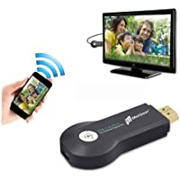 iMeshbean Portable WIFI Display Receiver Dongle Adapter DLNA AirPlay Mirroring Multi-screen Interactive HD 1080 for Miracast Android Smartphone Tablet Apple iPhone iPad…