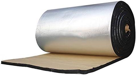 50 * 200cm Panneaux isolants de Bruit disolation Thermique de Bruit de Voiture de Papier Aluminium de 10MM pour Le Moteur//Toit//fen/être Mayyou Tapis damortissement Acoustique