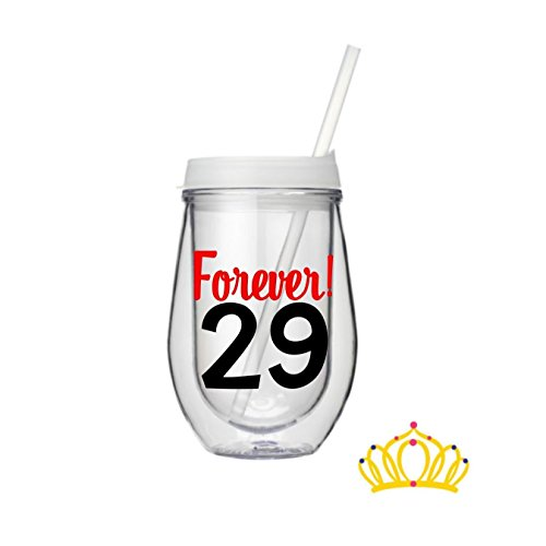 forever 29 wine glass - 3