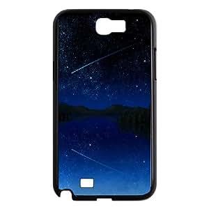 Shooting Star Sky Samsung Galaxy N2 7100 Cell Phone Case Black DIY GIFT pp001_8979532