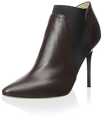 Jimmy Choo Women's Leather Bootie, Mocha, 40 M EU/10 M US
