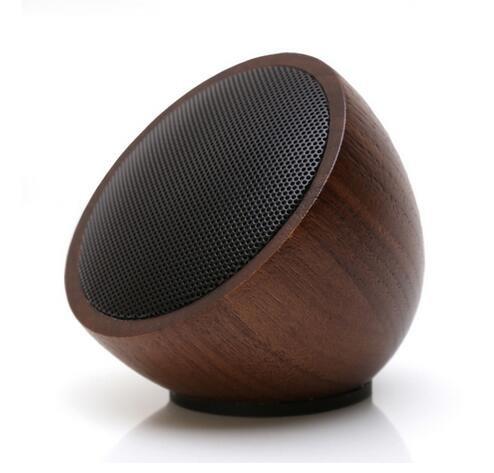 techase madera altavoces Bluetooth inalámbrico Mini portátil reproductor de mp3 puerto til para ordenador Tablet cena Bass sonido caixa de som - nogal: ...