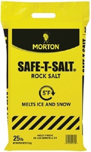 Morton Safe-T-Salt Rock Salt 25.0 LB For Snow And Ice Removal by Morton