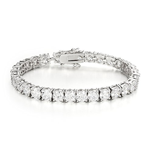 Ananth Jewels Somma Made with Swarovski Zirconia Solitaire Cut Tennis Bracelet for Women by Ananth Jewels Somma