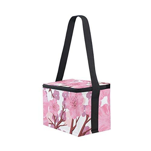Flores De Picnic Sin Y Para Hombro Costuras Bolsa Árbol Diseño Con Almuerzo Correa Melocotón El 8HdFwqxB