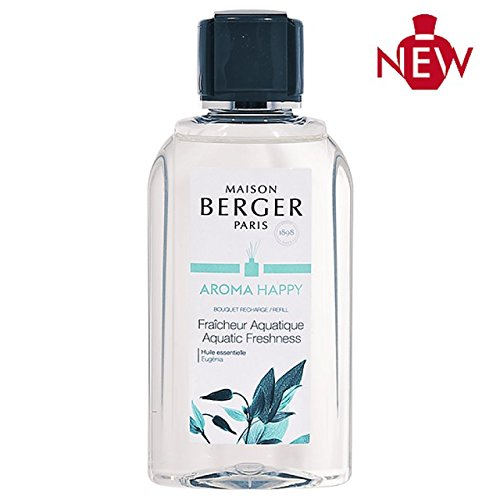 Lampe Berger Maison Berger- Reed Diffuser Refill Aroma Happy- Aquatic Freshness 6.76 fl oz