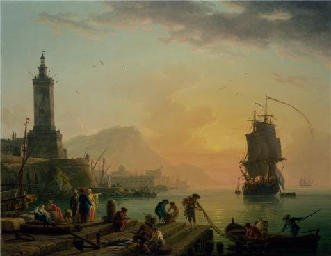 Oil painting 'A Calm at a Mediterranean Port,1770 Claude-Joseph Vernet' printing on high quality polyster Canvas , 24x31 inch / 61x79 cm ,the best Hallway decoration and Home decoration and Gifts is this Reproductions Art Decorative Prints on Canvas - Ultimate Alliance 2 All Costumes