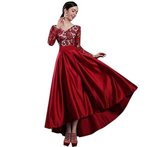 Vimans -  Vestito  - linea ad a - Donna Borgogna 46