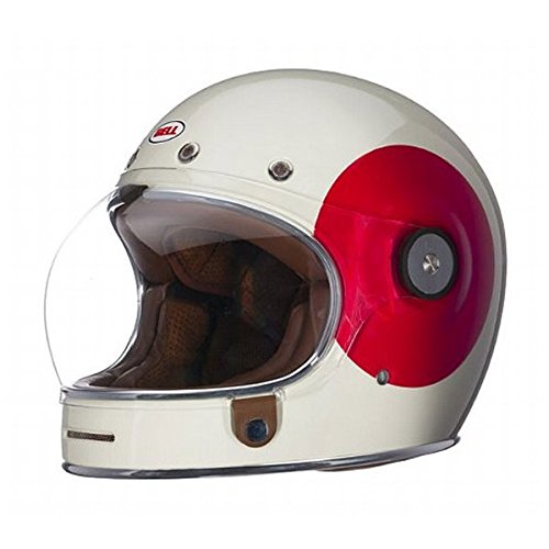 Bell TT Adult Bullitt Sports Racing Motorcycle Helmet - Cream/Red - 2X-Large