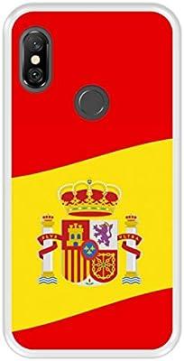Funda Transparente para [ Xiaomi Redmi Note 6 Pro ] diseño [ Ilustración 2, Bandera de España ] Carcasa Silicona Flexible TPU: Amazon.es: Electrónica