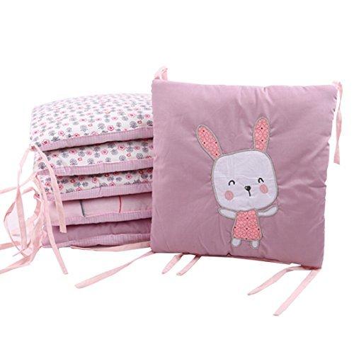 YUENA CARE Baby Safe Bumper 6Piece Breathable Nursery Bedding Crib Cotton Bumper 30 x 30cm [並行輸入品]   B07J5KBSM7