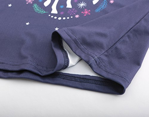 MyFav Big Girls' Summer Pajama Sets Cute Horse Sleepwears Cartoon Children PJS by MyFav (Image #5)