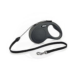 Flexi New Classic Retractable Dog Leash (Cord), 16 ft, Small, Black 30