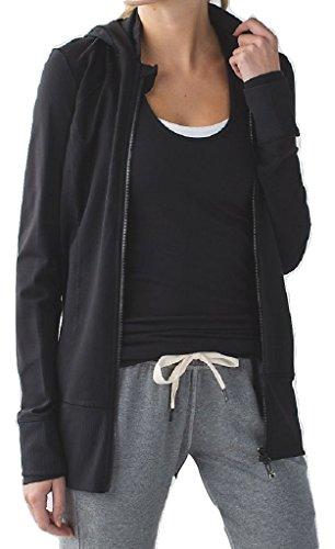 Lululemon Daily Practice Jacket Hoodie Black (8) by Lululemon