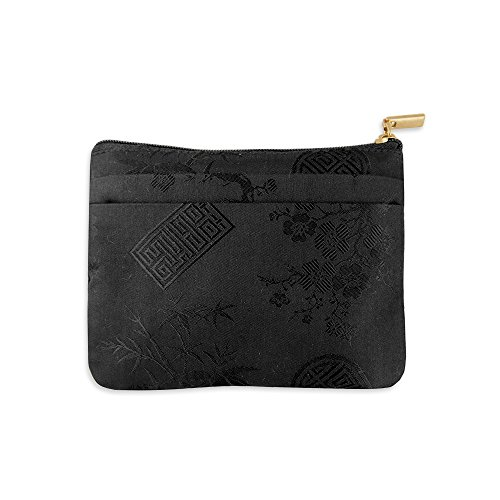 Zip Wallet - Silk Jacquard (Black)