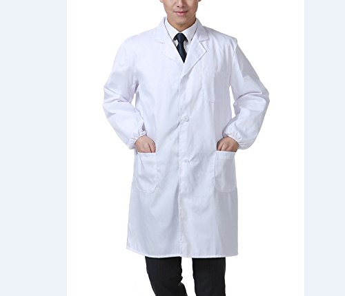 Médica Laboratorio Farmacia Enfermera de Trabajo con Manga Larga Blanca para (XXL, girl)
