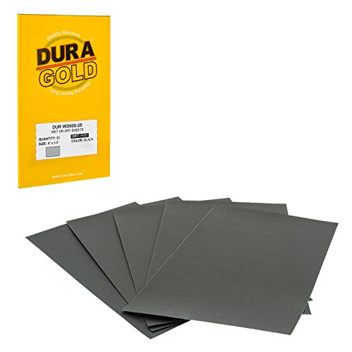 Dura-Gold - Premium - Wet or Dry - 600 Grit - Professional Cut to 5-1/2