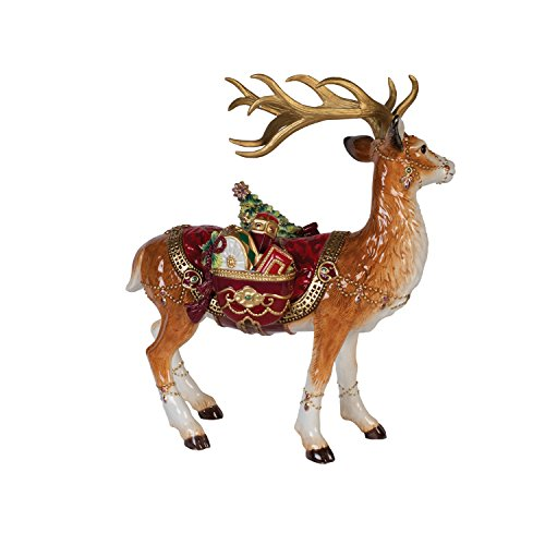 Fitz and Floyd 49-660 Renaissance Holiday Deer Figurine,