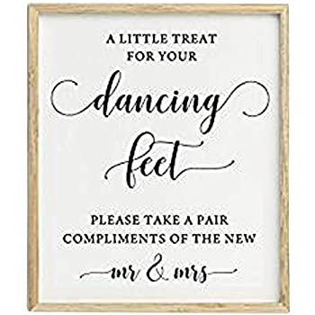 64405f53f76f71 A Little Treat For Your Dancing Feet Wedding Sign Dance Floor Decor Party  Print Signage