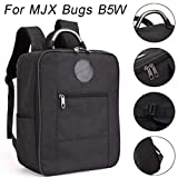 Hisoul for MJX Bug B5W Portable Shockproof Waterproof Durable Shoulder Bag Carrying Bag Protective Storage Bag - Comfortable Shoulder Strap to Keep Your Drone Secure (Black)