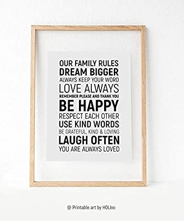 photograph regarding House Rules for Kids Printable identified as : Rainbow Retailer Household Indicator, Room Family members Laws