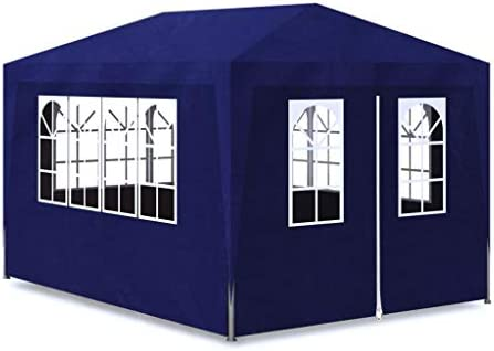 Zora Walter Carpa de Fiesta 3x4 4 Paredes Azul Estructuras de Exteriores Pabellones y cenadores: Amazon.es: Jardín