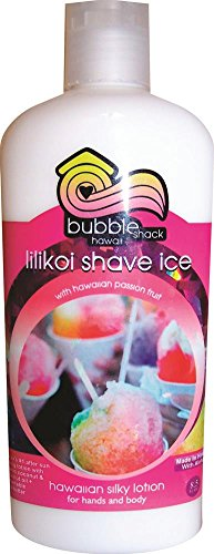 Price comparison product image Hawaii Bubble Shack Kukui and Shea Silky Hand & Body Lotion Passion Fruit Lilikoi Shave Ice 2 Bottles