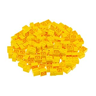 Strictly Briks Classic Bricks 144 Piece 2x2 Yellow Building Brick Creative Play Set - 100% Compatible with All Major Brick Brands