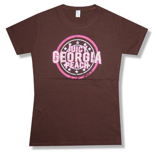 """Jason Aldean """"Georgia Peach"""" Brown Baby Doll T-Shirt New Juniors (Small)"""