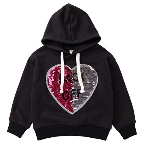 Décontracté Noir Avec Zhrui Taille À couleur 3 ans Sweatshirt Longues Pour Fille Manches Mingon âge Imprimé 2 qT400Pd