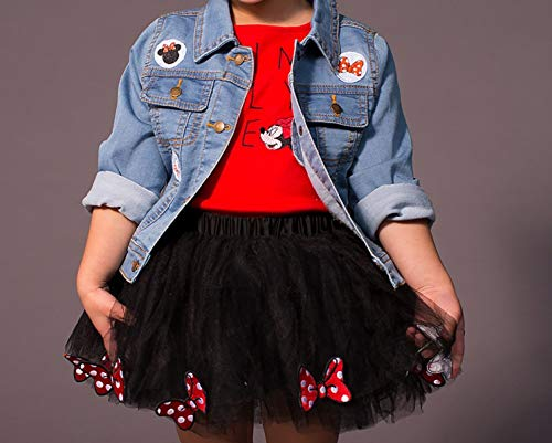 Disney Tutu Couture Minnie Mouse Toddler 3pc Skirt Set (5T) Red (Disney Kids Couture)