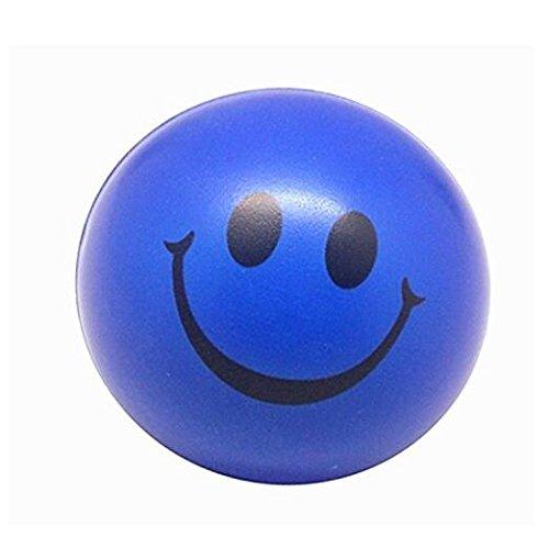 Newin Star - Pelota Anti Estrés,Bola Anti-Estrés,Juguetes antiestrés Diseño de Carita Sonriente 2PCS(Azul)