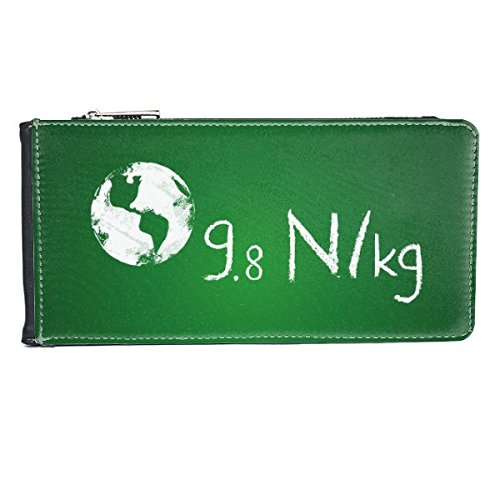 Kowledge Unit Acceleration of Gravity Multi-Card Faux Leather Rectangle Wallet Card Purse Gift