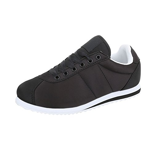 Chaussures Unisexe De Sport Hommes Baskets Bas-top Derbies Ital-design Noir