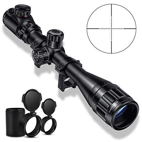 CVLIFE 4-16x44 Tactical Rifle Scope Red and Green Illuminated Built with Locking Turret Sunshade and Scope Mount Included