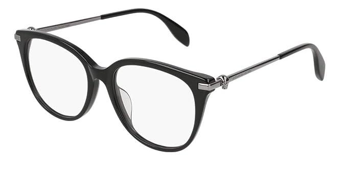 640e502c783 Amazon.com  Alexander McQueen AM-0154-OA Women Eyeglasses Skull ...